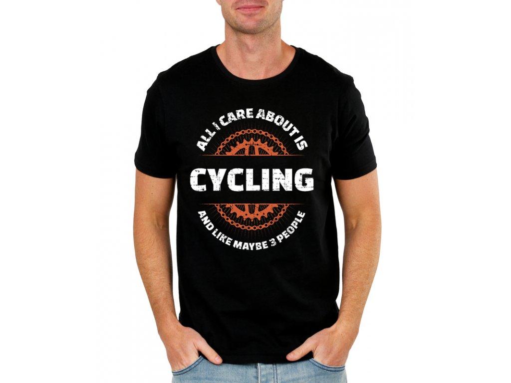 Pánské tričko Vše co mě zajímá je cyklistika