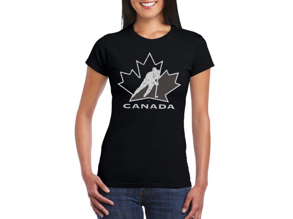 damske tricko Kanada Hokej