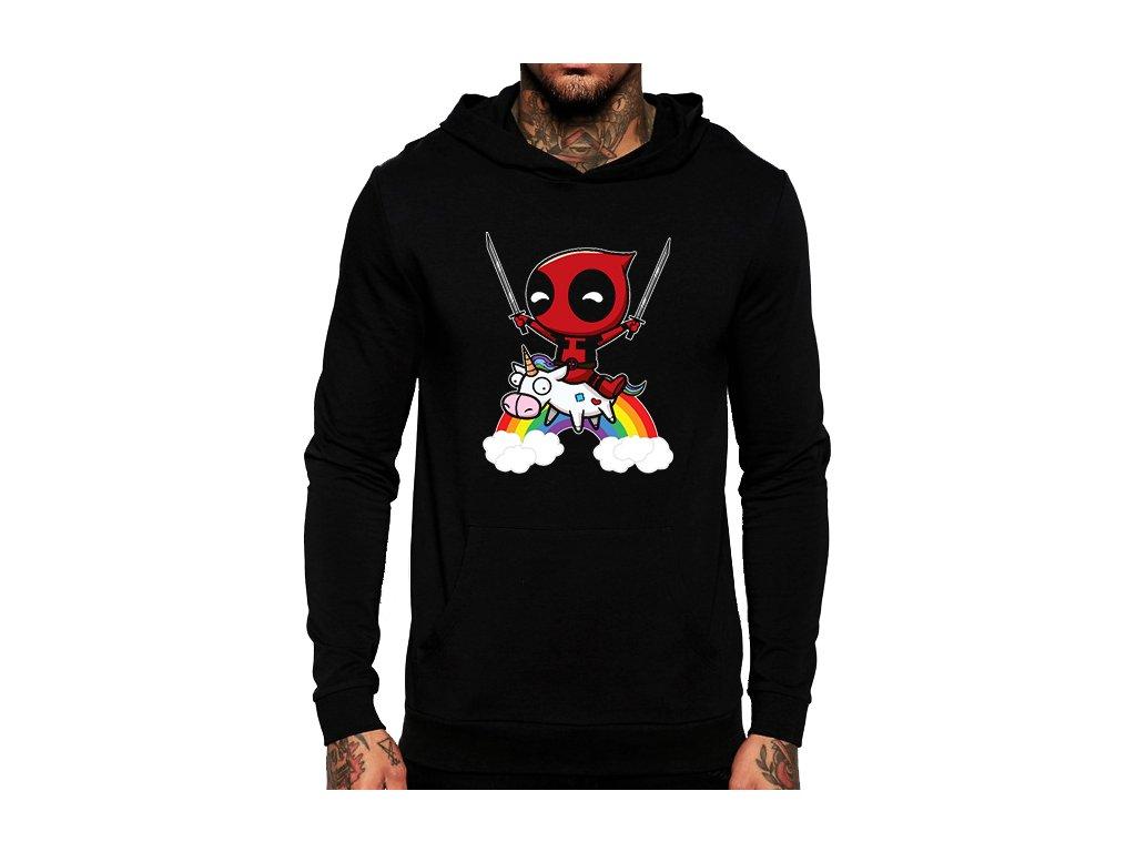 černá unisex mikina s kapucí Deadpool