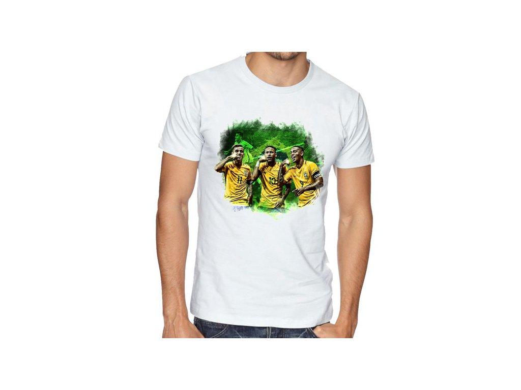 Pánské tričko Brazílie fotbal