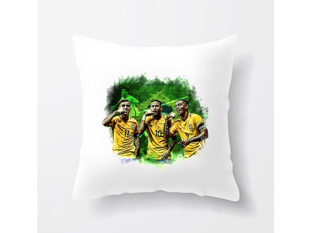 Polštář Brazílie fotbal