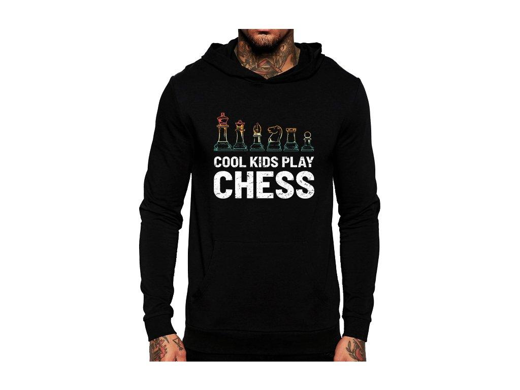 mikina Cool děti hrajou šachy