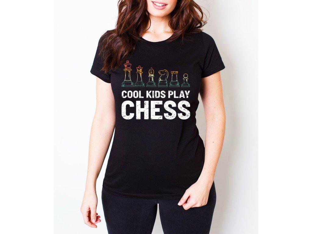 Dámské tričko Cool děti hrajou šachy