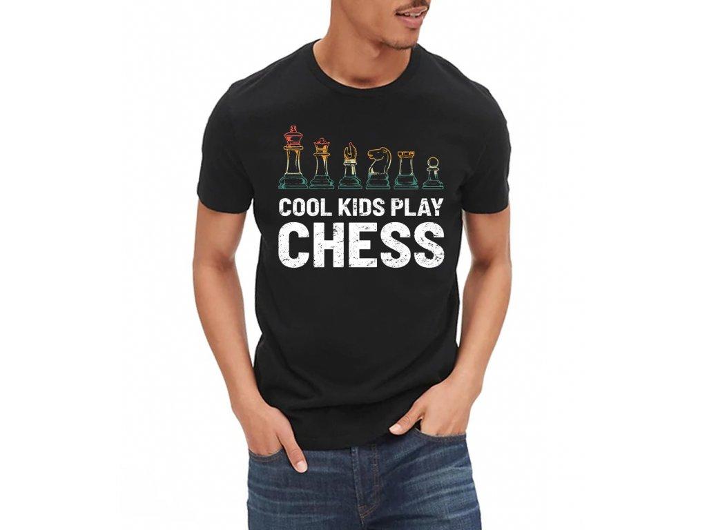 Pánské tričko Cool děti hrajou šachy