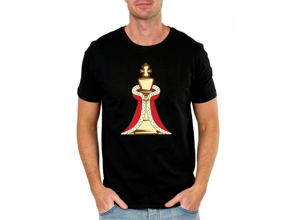 panske tričko Šachy Král