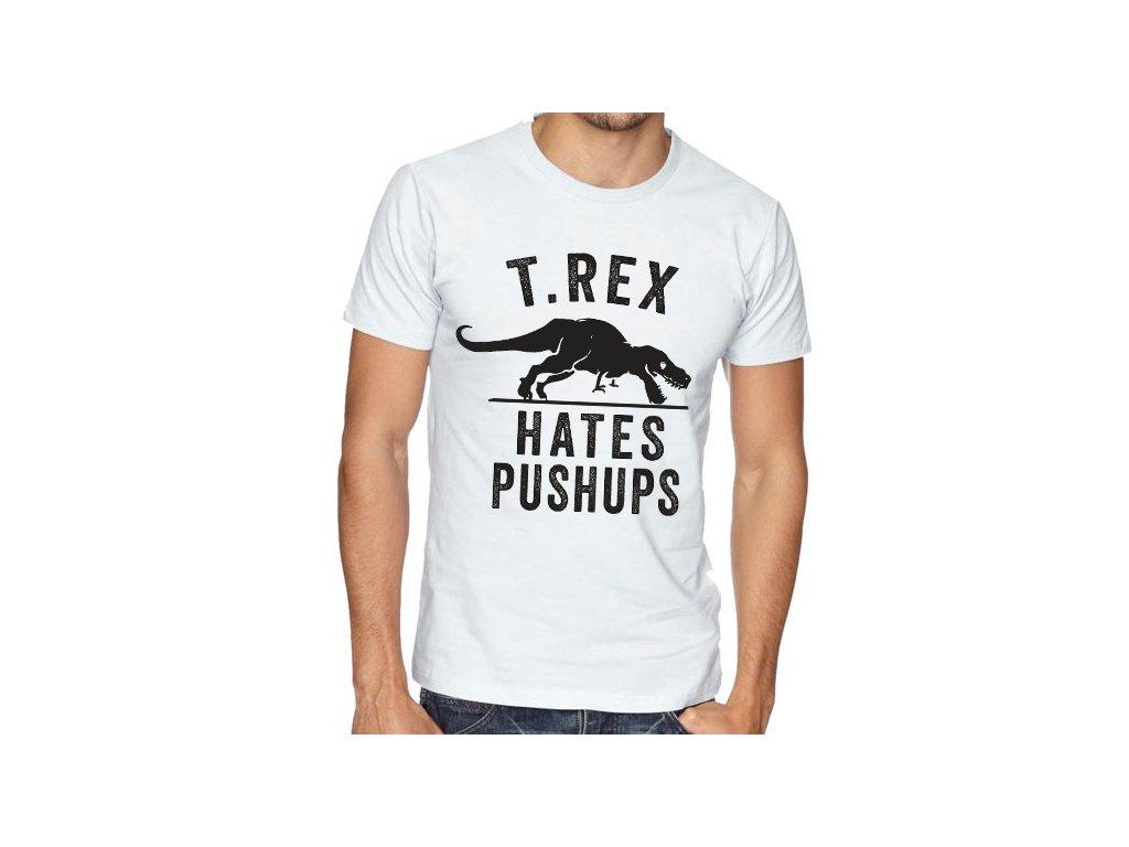 Pánské tričko Tyranosaurus nesnáší kliky