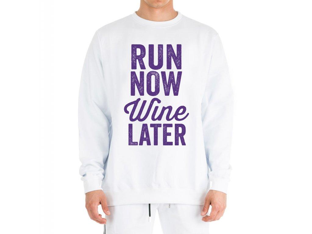 Mikina Běžet nyní Víno později