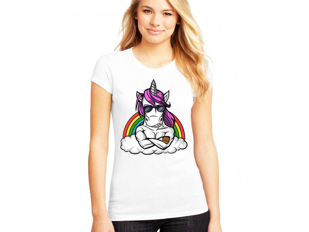 Dámské tričko Unicorn kulturista