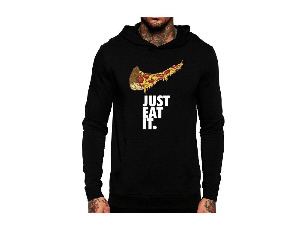 černá unisex mikina s kapucí Just do Eat It
