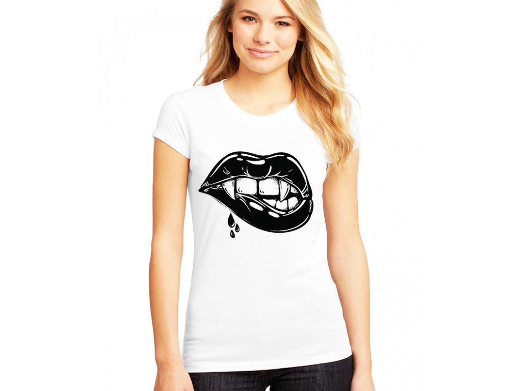 Dámské tričko Rty Vampír