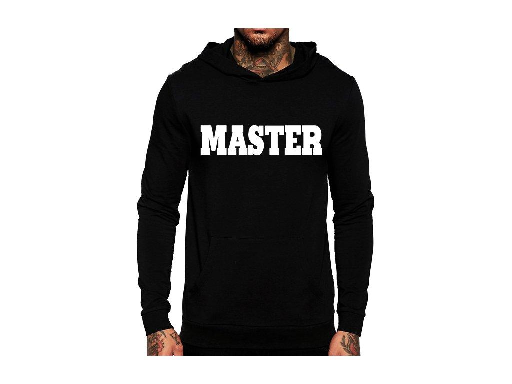 černá unisex mikina s kapucí Master