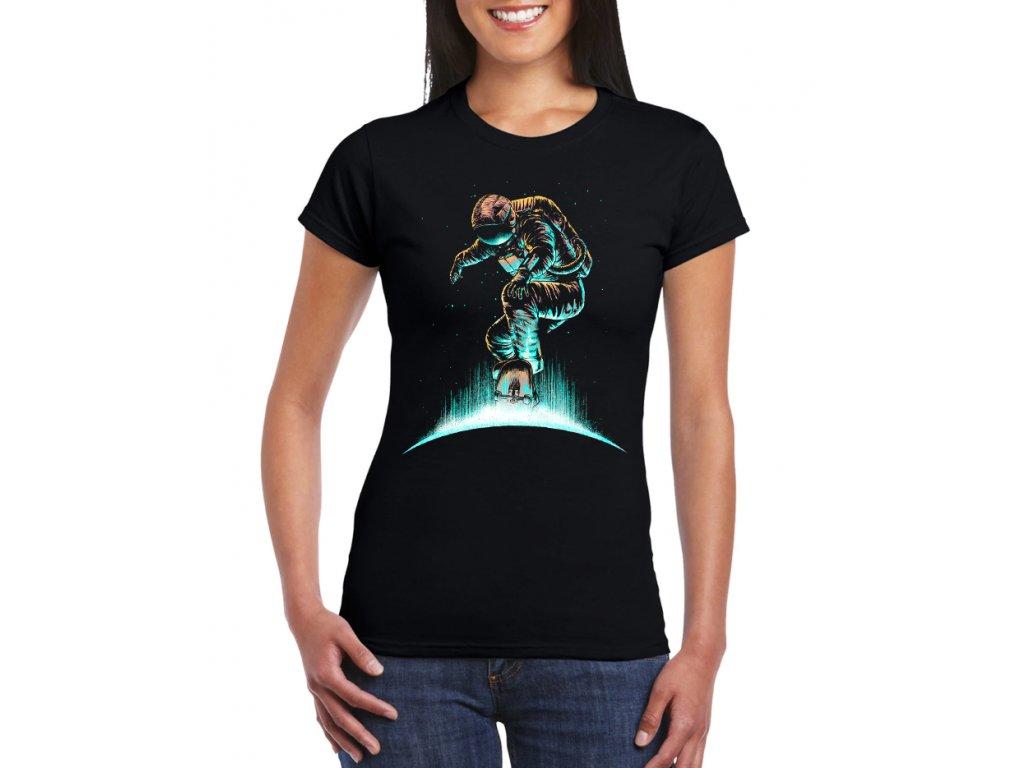Dámské tričko Vesmír skate