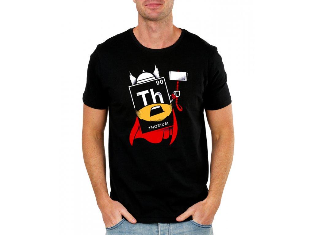 pánské černé tričko Thor kladivo - avengers