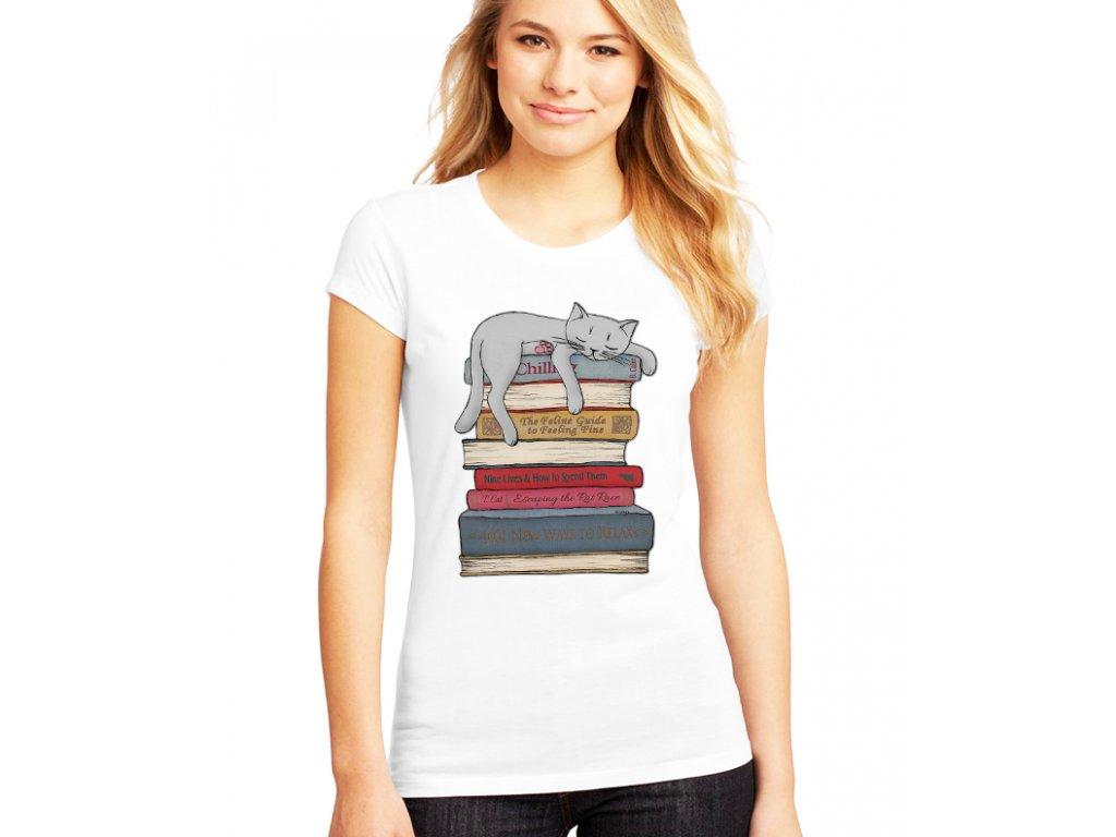 Dámské tričko Odpočinek kočka