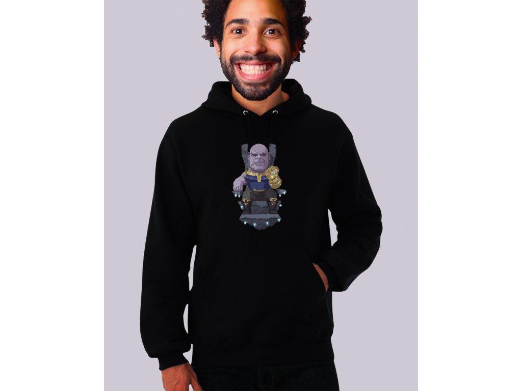 černá unisex mikina s kapucí Thanos Avengers 2
