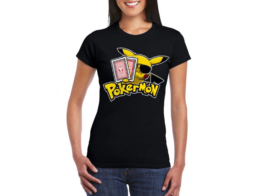 damske tricko Poker a Pokemon