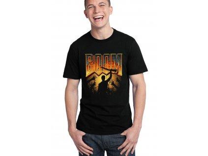 pánské černé tričko DOOM Boom