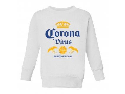 Dětská mikina Coronavirus parodie pivo