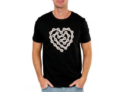pánské černé tričko Miluji Cyklistiku