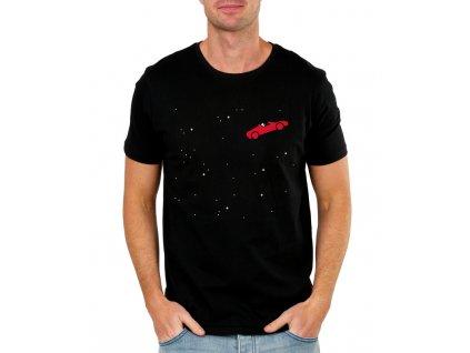 pánské černé tričko spacex elon musk