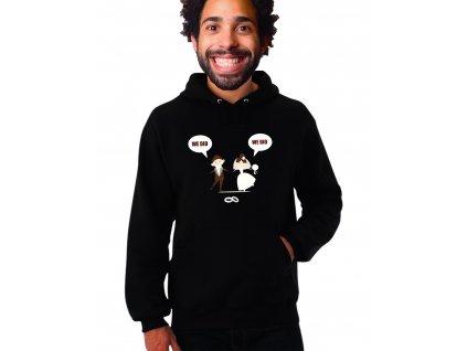 Unisex černá mikina s kapucí Vzali jsme se