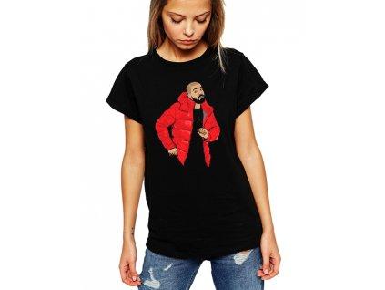 dámské černé tričko drake