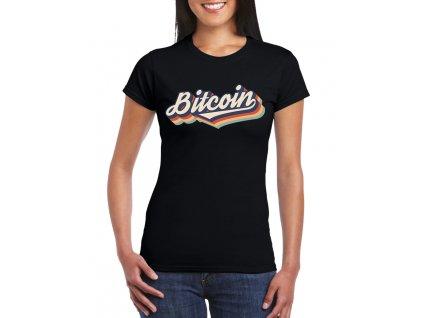 damske tricko Bitcoin duha