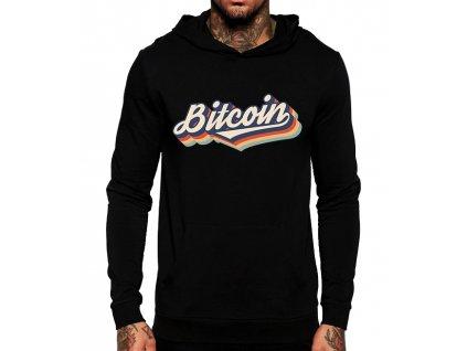 mikina Bitcoin duha s kapuci