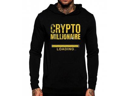 mikina Bitcoin milionář s kapuci