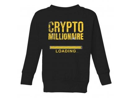detska mikina Bitcoin milionář