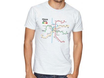 pánské bílé tričko metro praha