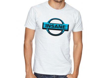 pánské bílé tričko nissan insane
