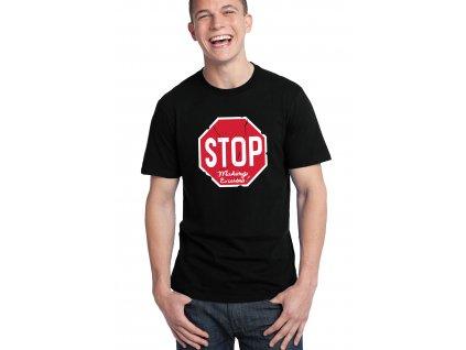 pánské černé tričko stop výmluvy