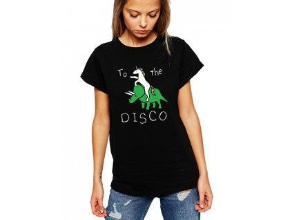 dámské černé tričko Směr Diskotéka