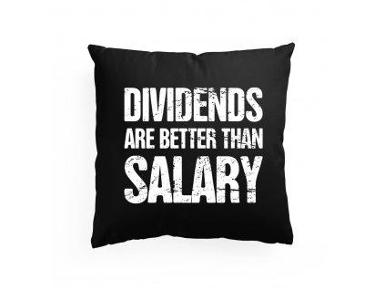 polštář Dividendy lepší než výplata