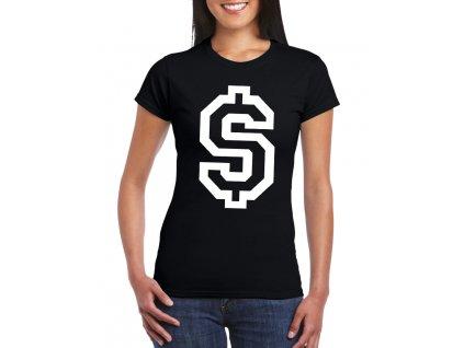 dámské tričko dolar symbol