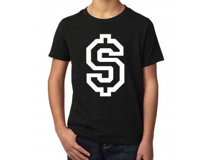dětské tričko dolar symbol