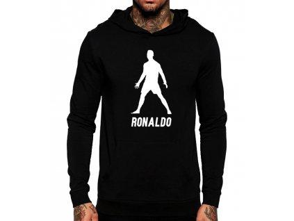 unisex černá mikina s kapucí cristiano ronaldo cr7