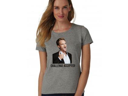 dámské šedé tričko jak jsem poznal vaši matku