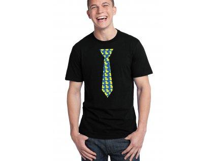 pánské černé tričko himym kačenková kravata
