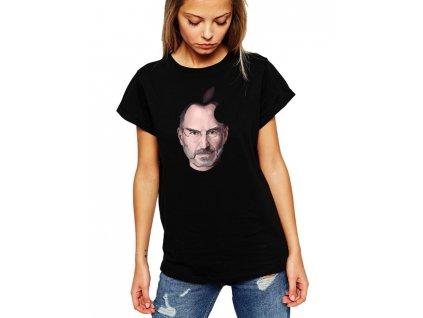 dámské černé tričko steve jobs apple