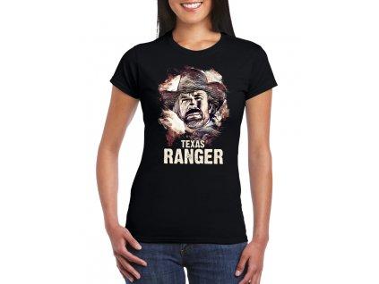 dámské černé tričko Chuck Norris texas ranger