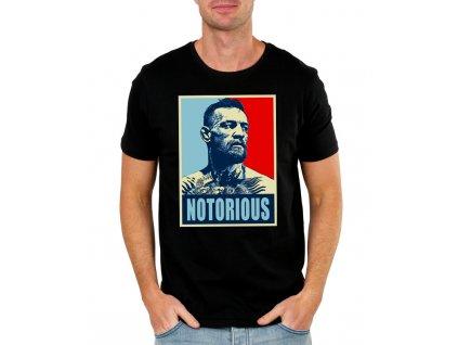 pánské černé tričko conor mcgregor notorious