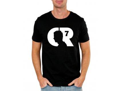 pánské černé tričko cristiano ronaldo cr7
