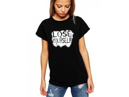 dámské černé tričko eminem lose yourself