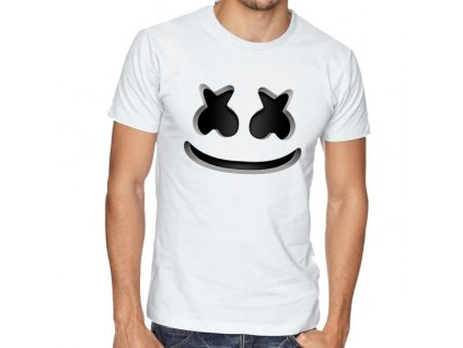 pánské bílé tričko david guetta Marshmello