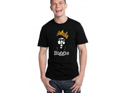 pánské černé tričko biggie hip hop