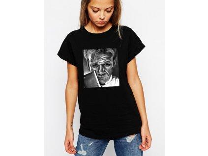 dámské černé tričko gordon ramsay