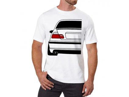 pánské bílé tričko bmw E46 zadek