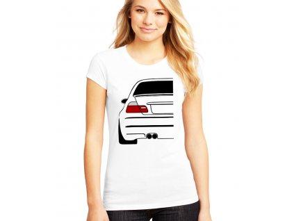 dámské bílé tričko bmw E46 zadek